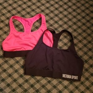 2 Victoria's Secret Sport Bras Size Medium Large